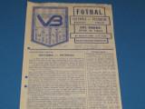 Program meci VICTORIA Bucuresti-PETROLUL Ploiesti(Cupa Romaniei 23.02.1986)