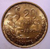 1.646 FRANTA 20 FRANCS FRANCI 1950 XF 3 PENE GEORGES GUIRAUD