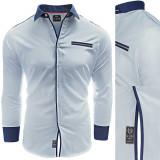 Camasa pentru barbati bleu Slim fit casual cu guler Citta Di Castello II