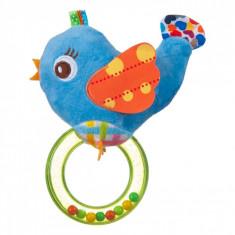 Jucarie zornaitoare, model pasare, 15cm, multicolor