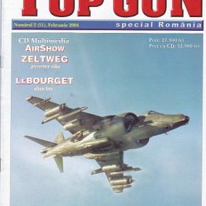 ROMANIA - TOP GUN FEBRUARIE 2004. REVISTA DESPRE AVIATIE CU CD