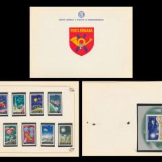 1972 Romania, Incheierea programului Apollo LP 814-15, carnet filatelic