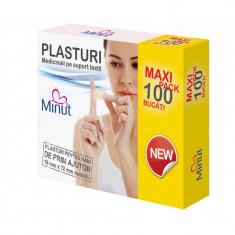 Plasturi Minut pentru rani prim ajutor Maxi pack, 100 bucati