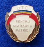 Insigna UTC - PENTRU APARAREA PATRIEI - alama - anii 1970
