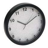 Ceas decorativ pentru perete, 31 cm, model sclipici