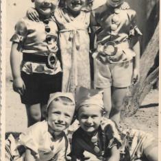 Fotografie copii costume carnaval poza veche