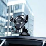 Suport auto pentru telefon Osculum, Baseus, rotire 360 grade, negru