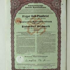 Titlu De Stat Obligatiune Germania-1928-100-Goldmark