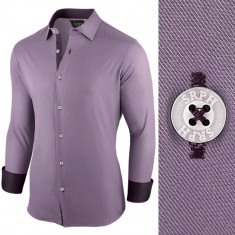 Camasa pentru barbati violet regular fit casual Business Class Ultra