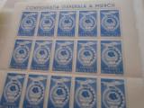 1947 LP 209 CONFEDERATIA GENERALA AMUNCII BLOC CU PUNCT PE STEAG, Nestampilat