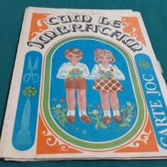 JOC VECHI ROMÂNESC* CUM LE ÎMBRĂCĂM* CARTE JOC/ 1986