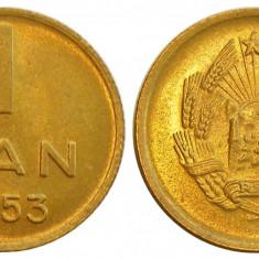 ROMANIA 1 BAN 1953 UNC NECIRCULATA, Bronz-Aluminiu