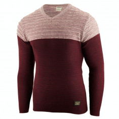 Bluza pentru barbati visiniu flex fit casual alaska elegance