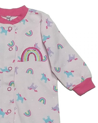Salopeta / Pijama bebe cu mansete si botosei Z02 foto