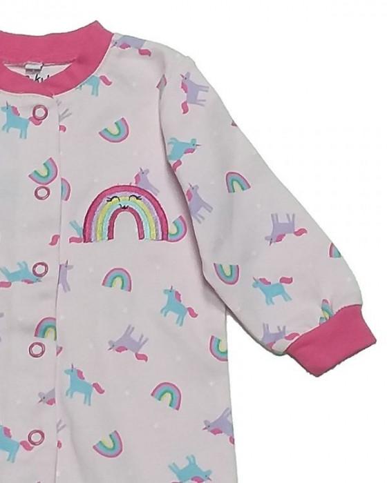 Salopeta / Pijama bebe cu mansete si botosei Z02