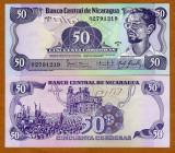 !!! NICARAGUA  -   50  CORDOBAS  1984  -  P 140  -  UNC