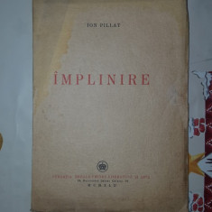Implinire an1942/78pagini- Ion Pillat