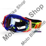 MBS Ochelari motocross Ufo PLast Mystic, albastru/rosu neon, Cod Produs: OC02196C