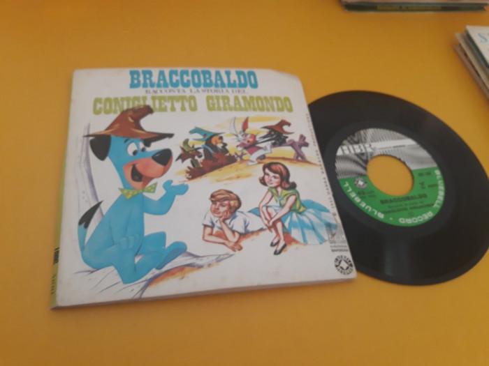 VINIL BRACCOBALDO RACCONTA LA STORIA DEL CONIGLIETTO GIRAMONDO DISCHANNA BARBERA