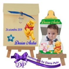 Marturii botez magnet biberon Winnie the Pooh Handmade by Diana Puiu MBBW 2