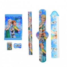 Set ceas, pentru copii, cu Frozen, portofel si rechizite cadou - COCOB8011604