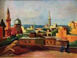 Caroly Cserna ( 1867 - 1944 ) , ulei pe carton , semnat . 50 x 70 cm, Peisaje, Altul