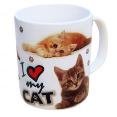 Cana ceramica I love my cat