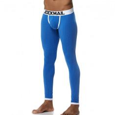 Pantaloni de Casa de Pijama Sexy Barbati Bumbac Black Jockstrap Lungi Albastru, M