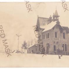 4864 - Bacau, Train, gara, ELIE RADU - old postcard, real PHOTO - unused - 1916