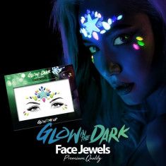 Paiete make-up fosforescente, reactive UV, autoadezive, reutilizabile, multicolore