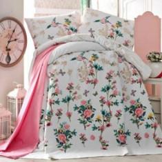 Set cuvertura pentru pat dublu Eponj Home, 143EPJ6207, Multicolor