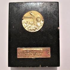 Placheta / Medalie veche, Romania: Expozitia F.B.T.  1963
