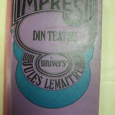 Impresii din teatru de Jules Lemoitre