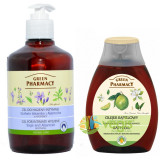 Gel pentru Igiena Intima cu Salvie si Alantoina 370ml+Ulei de Baie cu Bergamota si Lamaie Verde 250ml Pachet 1+1, Green Pharmacy