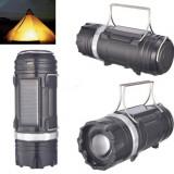 Felinar Camping LED Reincarcabil cu Lanterna cu Zoom - Panou Solar si USB C263