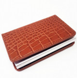 Cumpara ieftin Portofel RFID iUni P1, 8 carduri, Print crocodil Maro