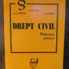 DREPT CIVIL PERSOANA JURIDICA-ERNEST LUPAN