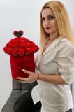 Cumpara ieftin Set cadou - Trandafiri sapun - Cutie Catifea Rosie