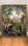 Tablou pictat manual ulei pe panza, tablou peisaj clasic reproducere celebra, Peisaje, Realism