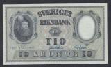 A5136 Sweden Suedia 10 kronor 1957 SEMNATURI DIFERITE aUNC