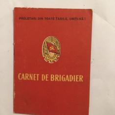 Carnet de Brigadier, vechi vintage, colectie