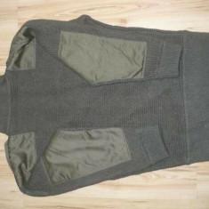 Pulover militar englezeasc lana 100%, 46, Olive, Active Wear