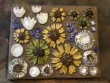 Arta / Decor / Design - Placa deosebita din ceramica  cu flori JIE Sweden !