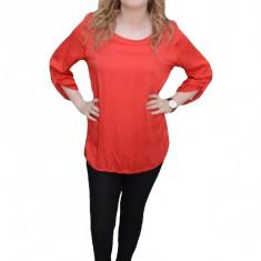 Bluza lejera de primavara, cu maneca lunga, in nuanta de rosu