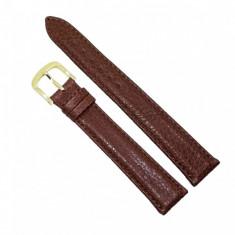 Curea de ceas din piele naturala maro - 16mm - C2947