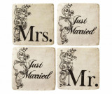 Set 4 coastere Just Married