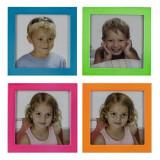 Mini rama foto Etta, format poza 6.5x6.5 cm, metalica, colorata