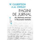 Pagini de jurnal   W. S. Culbertson, A. M. Owsley