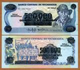 !!! NICARAGUA  -   500.000  CORDOBAS  (1990)  -  P 163  -  UNC