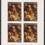 S. TOME E PRINCIPE 1977 PICTURA RUBENS ( bloc nedantelat) MNH, Nestampilat